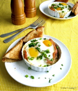 Baked Eggs Cocotte is quite literally the easiest, most elegant breakfast or brunch item you will ever make!