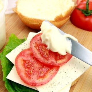 Homemade Mayonnaise sandwich