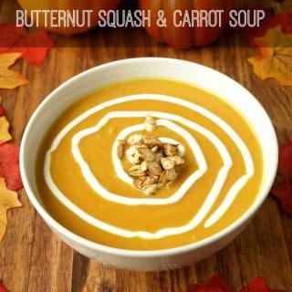 Fall Butternut Squash & Carrot Soup