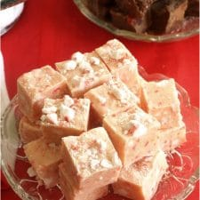My recipe for fudge is so easy I almost feel guilty sharing it with you. Peppermint Stick Fudge is quick and simple and cooks in about 10 minutes plus set-up time.