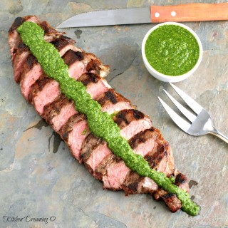 Although steak traditionally accompanies chimichurri sauce don't let that deter you. We eat ours on anything imaginable...lamb, chicken, fish, pork, shrimp, and grilled vegetables. We've even eaten it alone on a slice of bread.