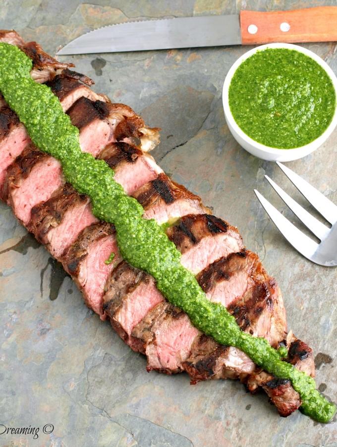 Chimichurri Sauce with Steak