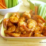 With just five minutes in the oven, you can whip these Oven Roasted Buffalo Shrimp up in no time for an easy dinner or appetizer.