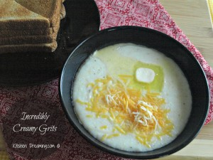 Incredibly Creamy Grits take some time to prepare but are ready in about 30 minutes.