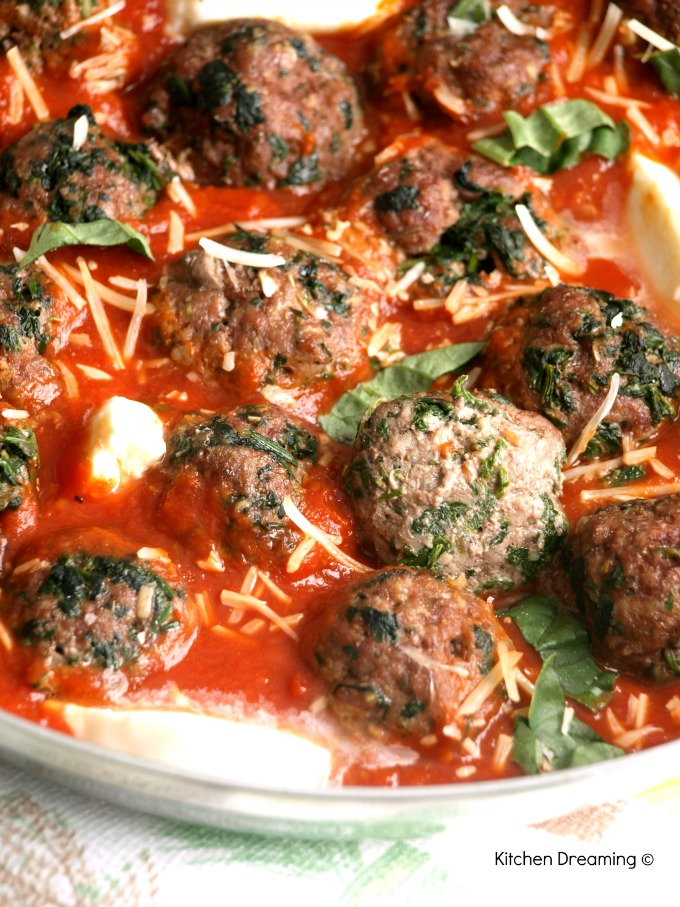 Served as an appetizer, as meatball sliders with a side of steamed vegetables or with a side of whole wheat pasta, these meatballs are delicious.