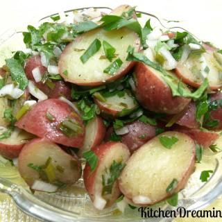Warm Potato Salad With Herbed Vinaigrette