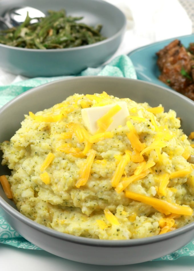 Broccoli-Cheese Mashed Potatoes