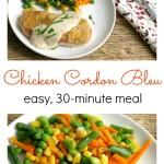 Easy Chicken Cordon Bleu Pinterest Collage