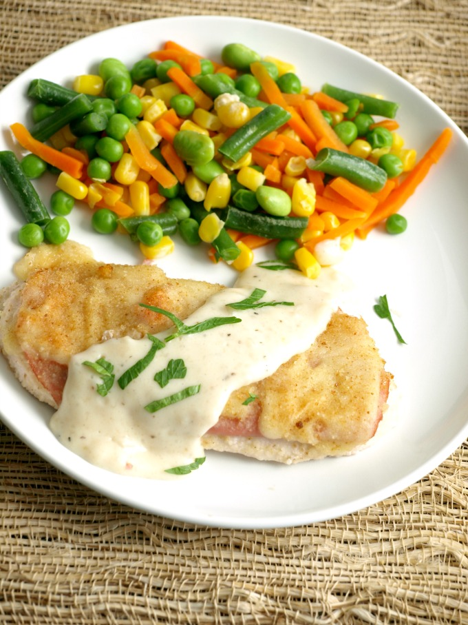 We were featured in Taste of Home Magazine!! Oven Chicken Cordon Bleu chicken breasts are layered into a baking dish, topped with ham, cheese and bread crumbs then baked to a golden brown,