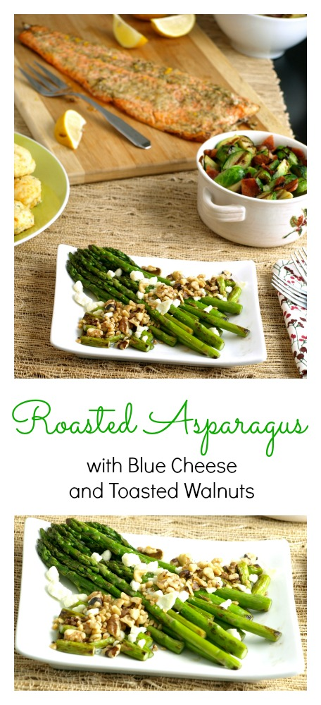 Asparagus with Blue Cheese and Walnuts Pinterest Collage