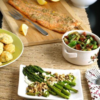 Asparagus with Blue Cheese & Toasted Walnuts. asparagus needs just the fewest of ingredi