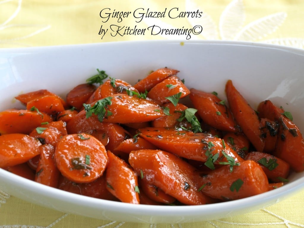 Ginger Glazed Carrots are simple enough for a weeknight meal yet elegant enough to grace any weeknight meal or even your Holiday table.