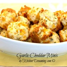 Garlic Cheddar Minis make a great addition to soups and stews. They also pair great with seafood and any dinner you have in mind.
