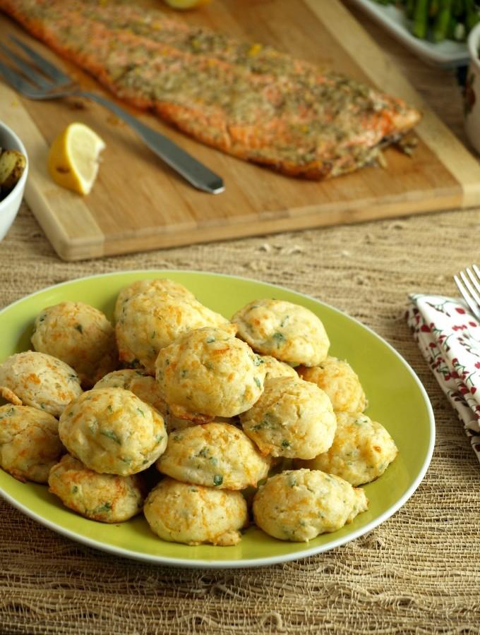 Mini Garlic Cheddar Biscuits
