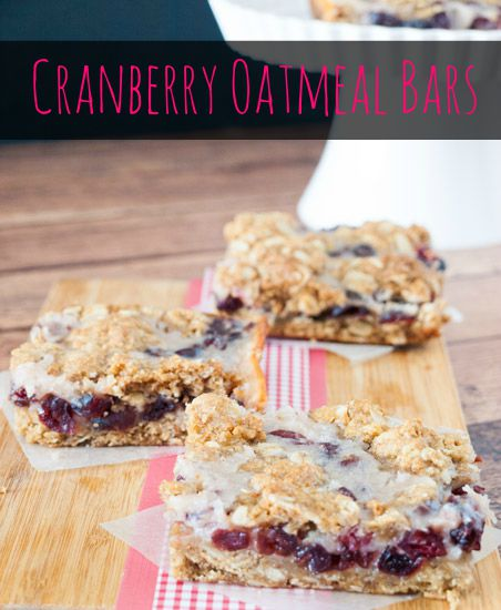Cranberry Oatmeal Bars have just the right amount of sweetness to satisfy your craving! | KitchenDreaming.com |