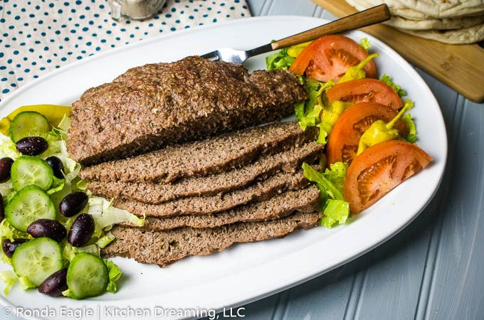 A platter of Gyro meat
