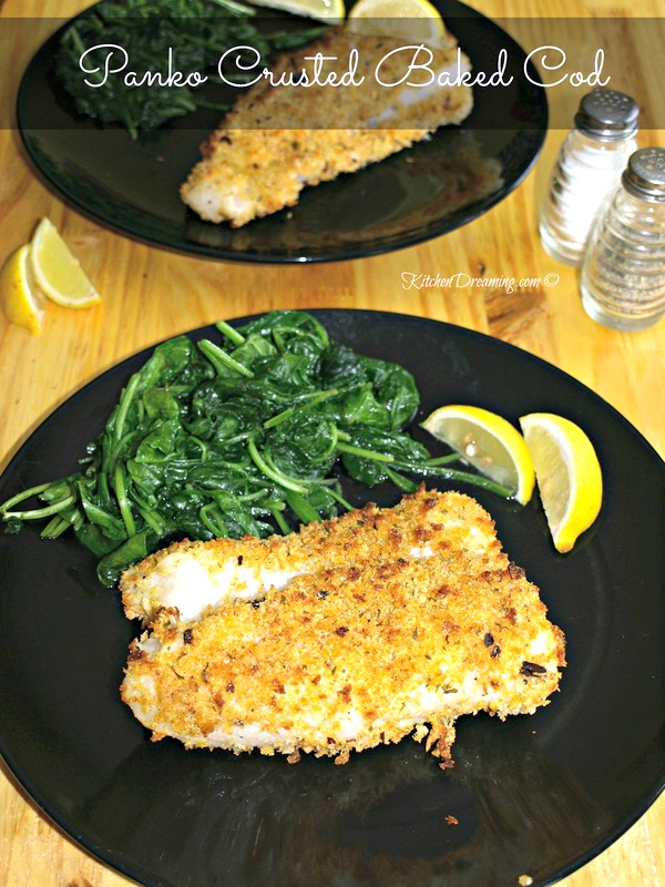 Panko Crusted Baked Cod Fish