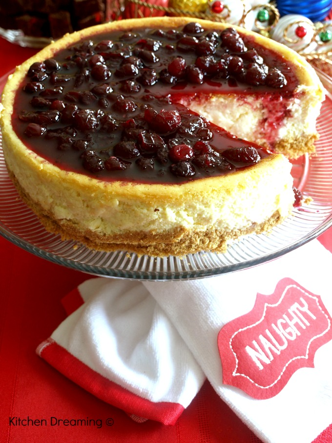 Cranberry Cheesecake is Light and fluffy, it's topped with my very own homemade cranberry sauce that doubles as a side for my dinner table.