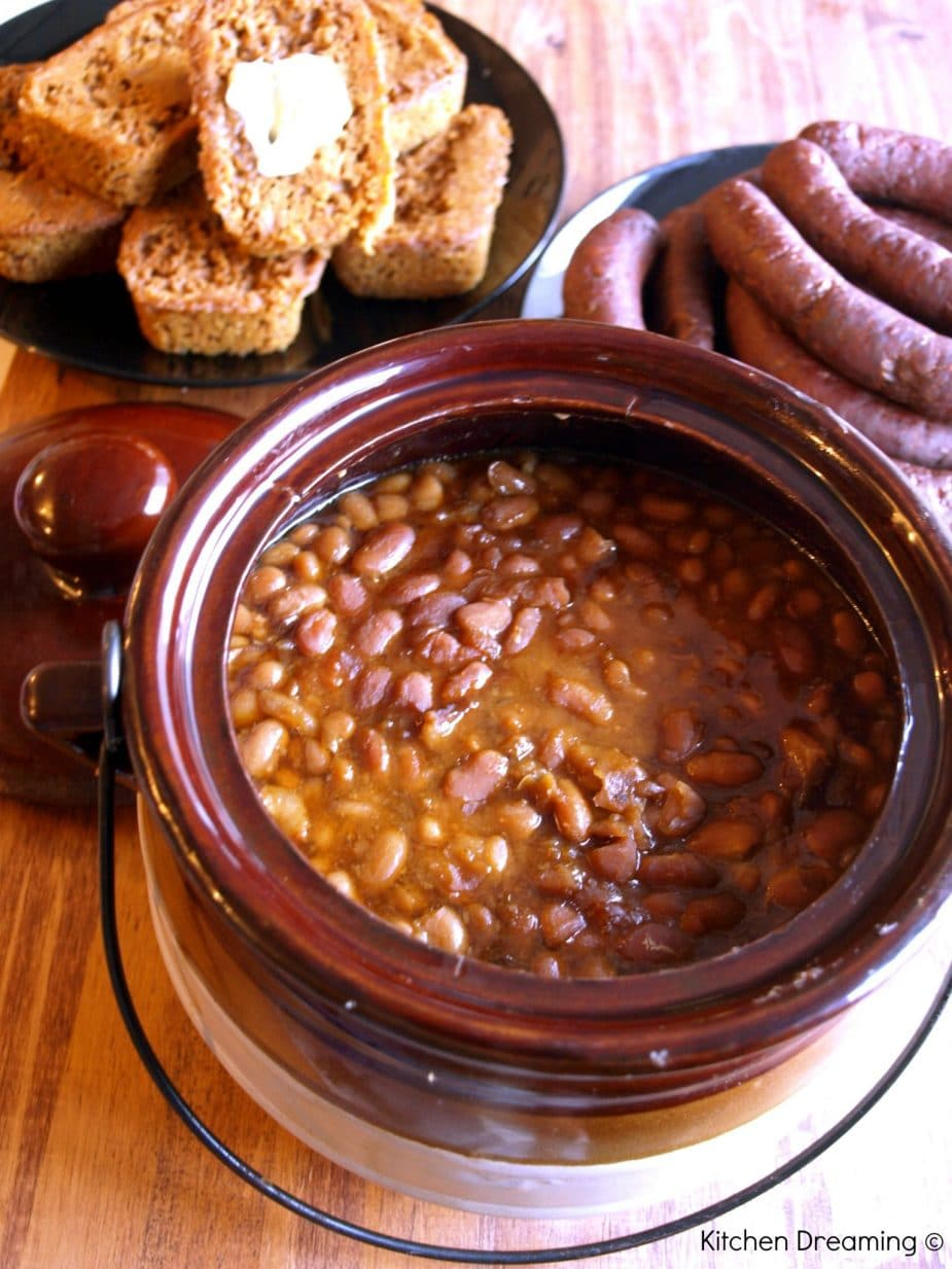 Traditional Boston Baked Beans are a popular in New England with roots that go back to the days of the Native Americans, Pilgrims and Plymouth rock.
