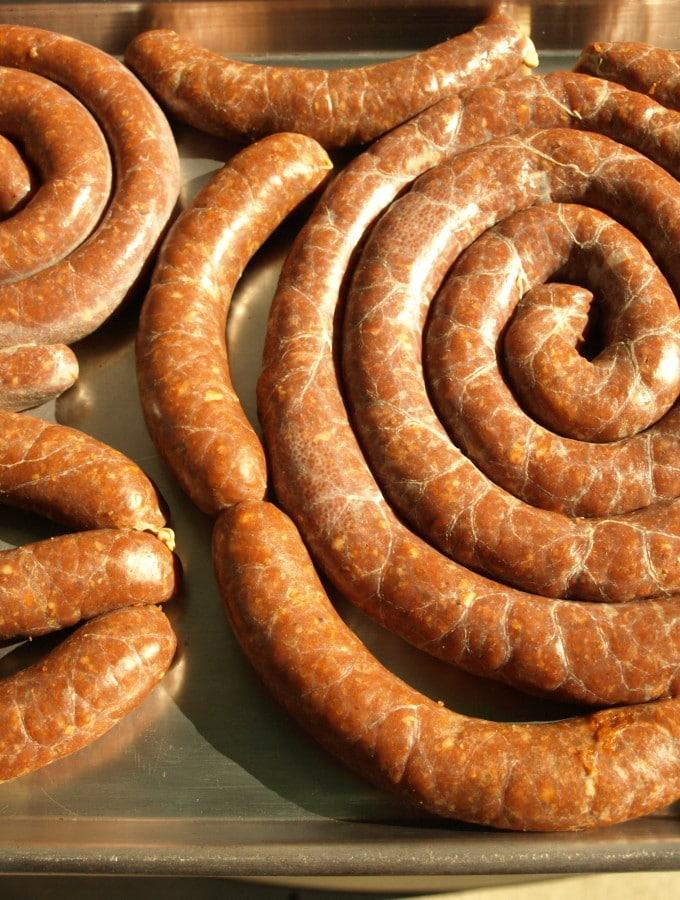 Homemade Linguica Portuguese Sausage