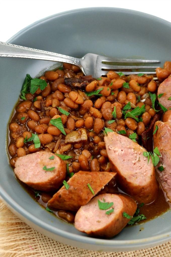 Slow Cooker Baked Beans Boston Baked Beans 1