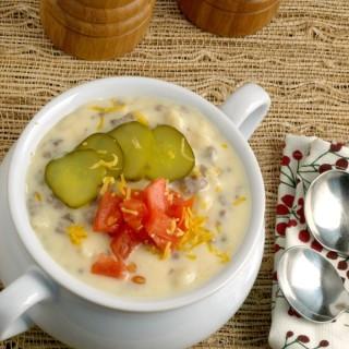 Cheeseburger Macaroni Soup