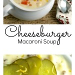 Cheeseburger Macaroni Soup Pinterest Collage