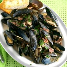Mussels in Irish ale is a traditional Irish dish served along the coastal regions.
