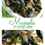 Irish Ale Mussels Close Up Pinterest Collage