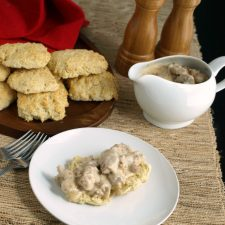 Biscuits and Gravy is so easy to prepare from scratch there's no need to start with a dry gravy packet. Let us show you how!