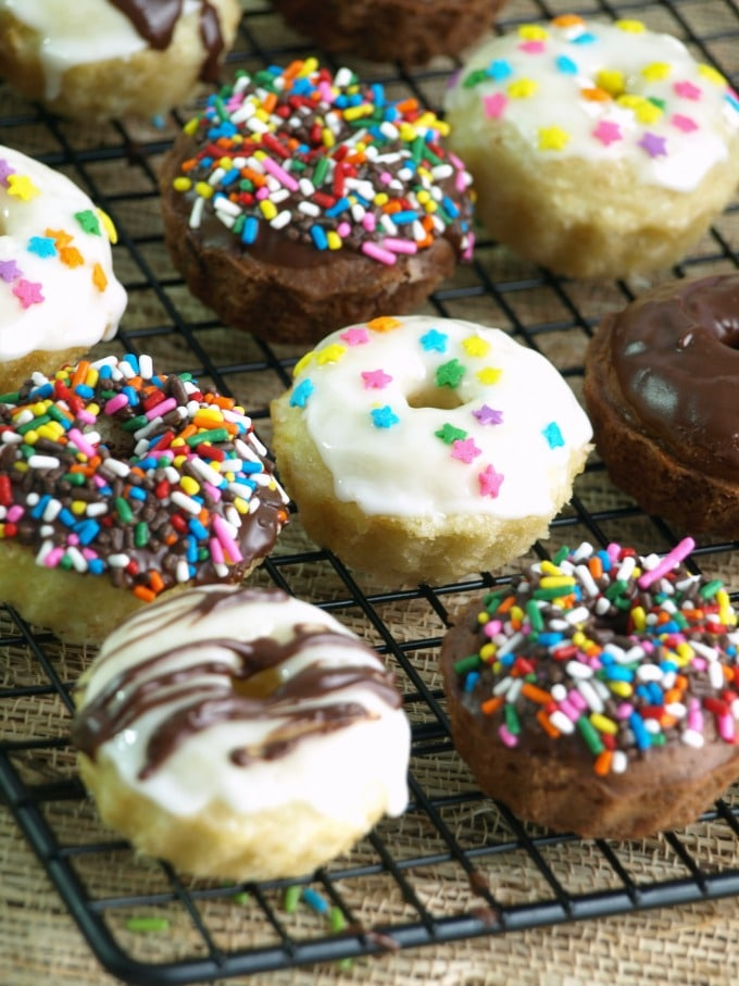 Five minutes is all you need for the low fat baked doughnuts with no need for rolling or a a special