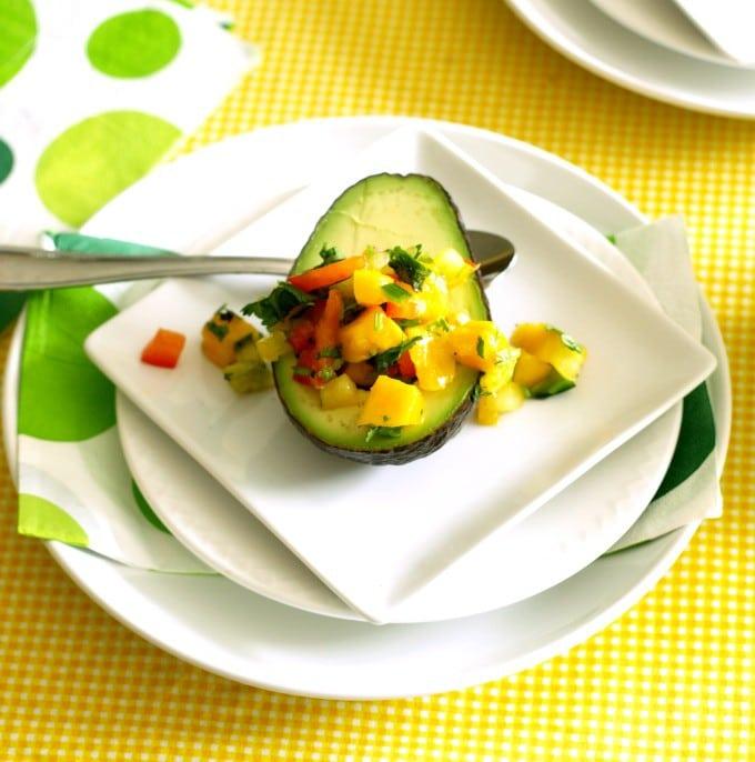 Avocado with Mango Salsa