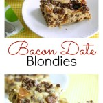 Bacon Date Blondies Pinterest Collage