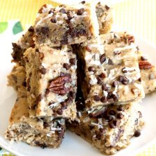 This simple, easy to follow recipe for Coconut Pecan Blondies yields a bar that is moist, chewy and delicious.