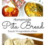 Homemade Pita Bread Pinterest Collage