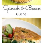 Spinach and Bacon Quiche Pinterest Collage