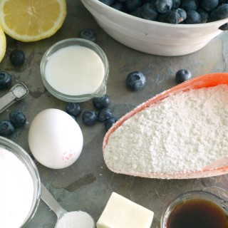 Blueberry Cobbler ingredients 680 px