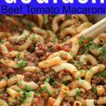 American Goulash Tomato Beef Macaroni Main