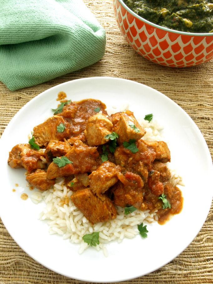 Chicken Vindaloo - The tangy, spicy blend of vinegar and Indian curry spices in Vindaloo is sure to satisfy and it's made without a pre-made paste or sauce mix.