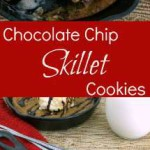 This Skillet Chocolate Chip Cookie is warm, chewy, and full of chocolaty goodness. | KitchenDreaming.com |
