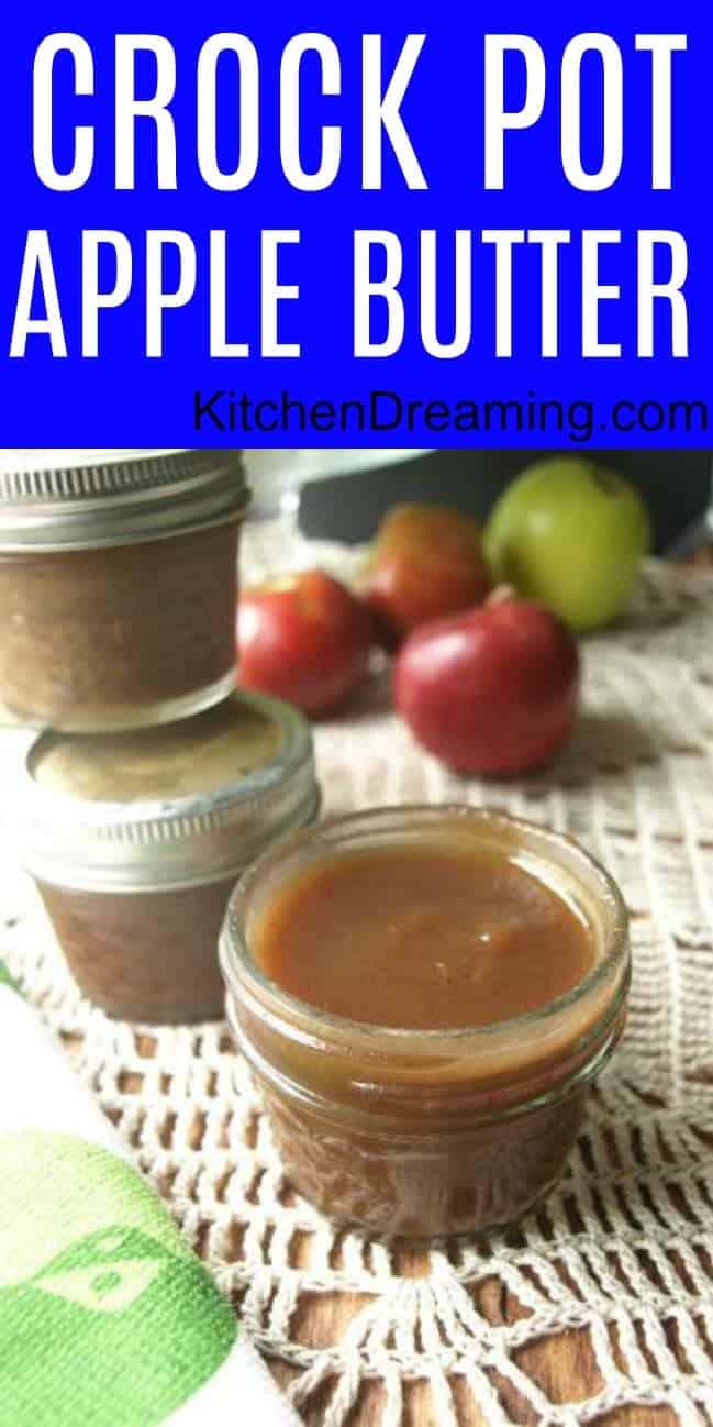 A pinnable Pinterest image of Crock Pot Apple Butter.