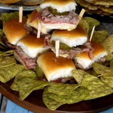 This variation of the classic Cuban sandwich is called Medianoche, and is traditionally served on sweet bread rather than the typical Cuban bread.