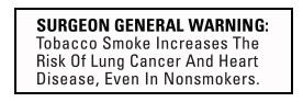 Surgeon General Tobacco Warning