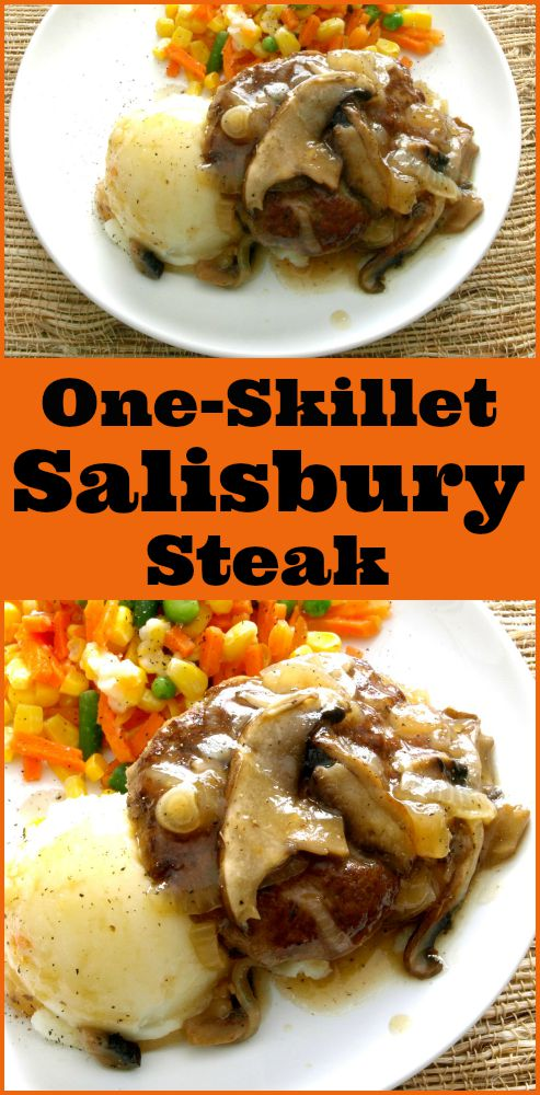 One-Skillet Salisbury Steak -- KitchenDreaming.com © -- Let this one-skillet Salisbury Steak take a little of the
