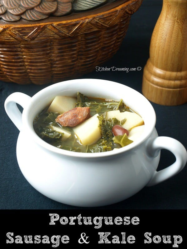 Portuguese Potato Sausage and Kale Soup