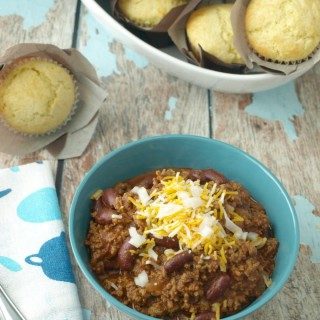 This basic beef chili recipe that can easily be adapted with more seasonings, or add-ins. Recipe variations included with this recipe.