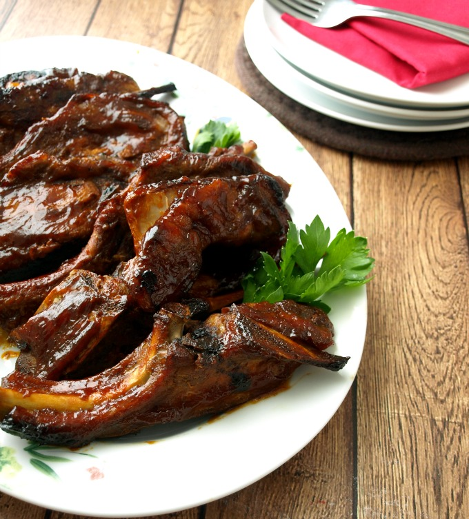 Fast Country Style Ribs Part - 23: Oven Baked Country Style Pork Ribs Are Slow Cooked To Fall-off-the-