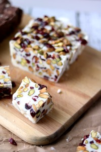 Cranberry Pistachio Fudge is creamy and sweet and so incredibly delicious. It takes just 3 minutes to make and 4 ingredients.