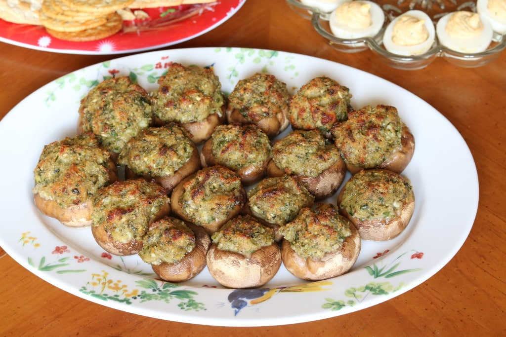 Cheese Stuffed Mushrooms are easy to prepare and are a crowd favorite. This delicious hot vegetarian appetizer will satisfy everyone on your guest list.