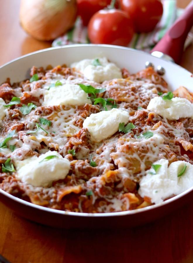 30-Minute Skillet Lasagna